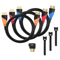 High-Speed HDMI Cable 3 Pack -6ft with Gold Plated Corrosion Resistant Connectors