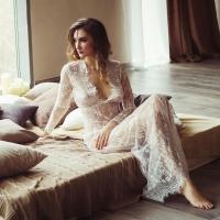 Long Sleeve Seamless Lingerie Dress