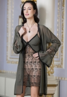 ROMANTIC LACE BABYDOLL AND ROBE SET
