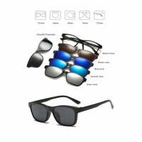 Magnetic Glasses Frame With 5 Pcs Sunglasses 2246T