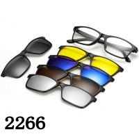 Magnetic Glasses Frame With 5 Pcs Sunglasses 2266T