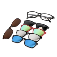 Magnetic Glasses Frame With 5 Pcs Sunglasses 2248T