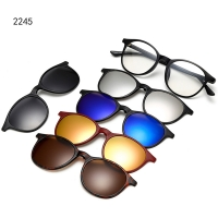 Magnetic Glasses Frame With 5 Pcs Sunglasses 2245T