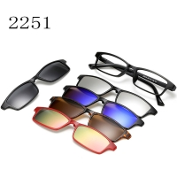 Magnetic Glasses Frame With 5 Pcs Sunglasses 2251T