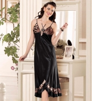 LACY FLOOR LENGTH SATIN GOWN