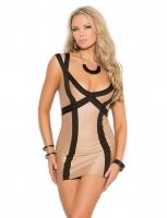 Contrast Double Shoulder Strap Mini Dress