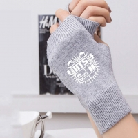 BTS Logo Gloves - Grey