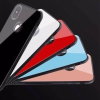 Glass phone cover with plastic frame for Iphone X