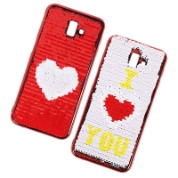 Cover Plastic with two different faces for Samsung J6 PLUS
