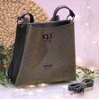 Guess brand big velvet handbag