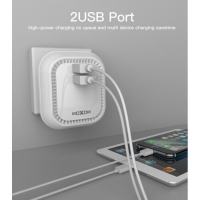 Original Maxoom Charger 2.4 Amps with iPhone Cable 2USB