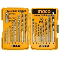 16Pcs Metal  Concrete   Wood Drill Bits Set