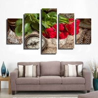 Panel sequential and distinctive of flowers 5pcs
