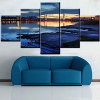 Panel sequential and distinctive of a beautiful landscape 5pcs