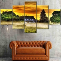 Panel sequential and distinctive of scenic 5pcs