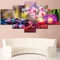 Panel sequential and distinctive landscape of roses 5pcs