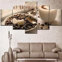 Panel sequential and distinctive of coffee 5pcs
