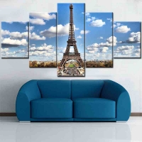 Panel sequential and distinctive of Eiffel Tower 5pcs