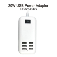 20w USB Power Adapter with 6 Ports
