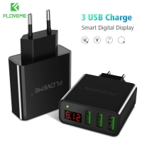 Charger Digital 5V LED Display 3 USB FLOVEME