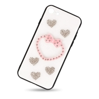 Plastic heart cover for iphone 7