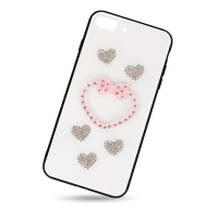 Plastic heart cover for iphone 7plus