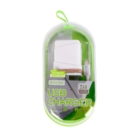 Charger with charging cable for Type C 2.4-amp 2USB