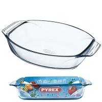 A glass bowl A Oval pyrex 4 L
