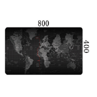 Mouse and Keyboard Pad world map