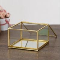 Glass jewelery box
