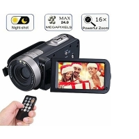 Digital Camcorder With IR Night Vision 24.0MP 18X Zoom