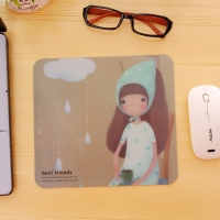 Mouse pad is a girl