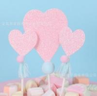 Set sticks hearts paper
