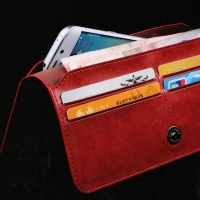 Leather wallet for all phones 19cm REALIKE Casual