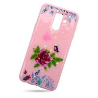 Plastic Cover Violet Rose for Samsung J8