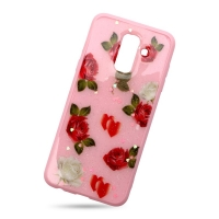 Plastic Cover Red Rose for Samsung J8