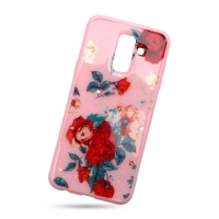 Plastic cover and beautiful roses for Samsung J8