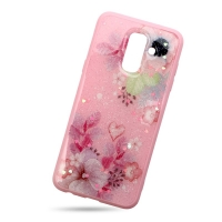 Pink Plastic Cover for Samsung J8