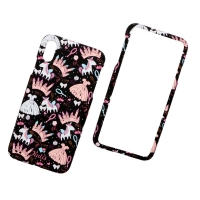 KUtis 2 in 1 Cover plastic Iphone Xs MAX two pieces 360