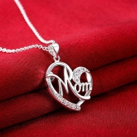 Heart Necklace  Mom