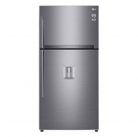 LG Stainless steel refrigerator with top freezer