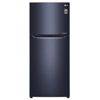 LG 437 L refrigerator black glass
