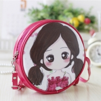 Children  s bag shape beautiful girl