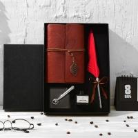 Feather pen set  notebook  classic design