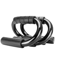 Hand-held S-hand handles for pressure exercises - black