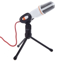 Wired stereo microphone with capacitor clip for laptop / PC for chatting and Karaoke singing