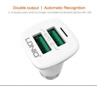 LDNIO 2 Port USB Car Charger Adapter Auto-ID C301
