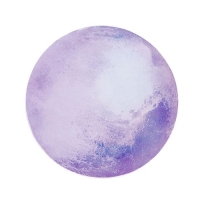Mouse pad decorated in circular moon compatible with PC and laptop