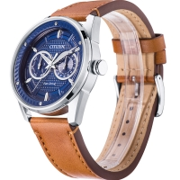 Citizen Bu4021-17l Eco-drive Leather Strap Men s Watch 42mm
