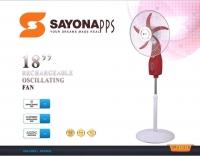 rechargeable fan 18 inch